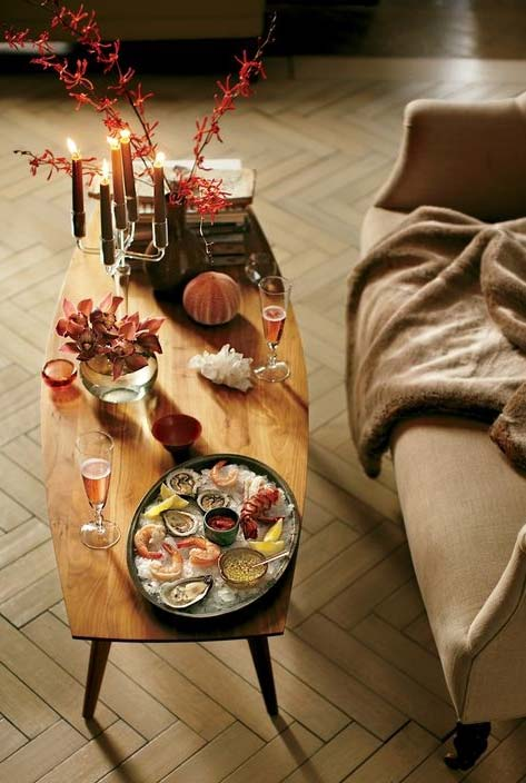 Ideia informal para um jantar romântico