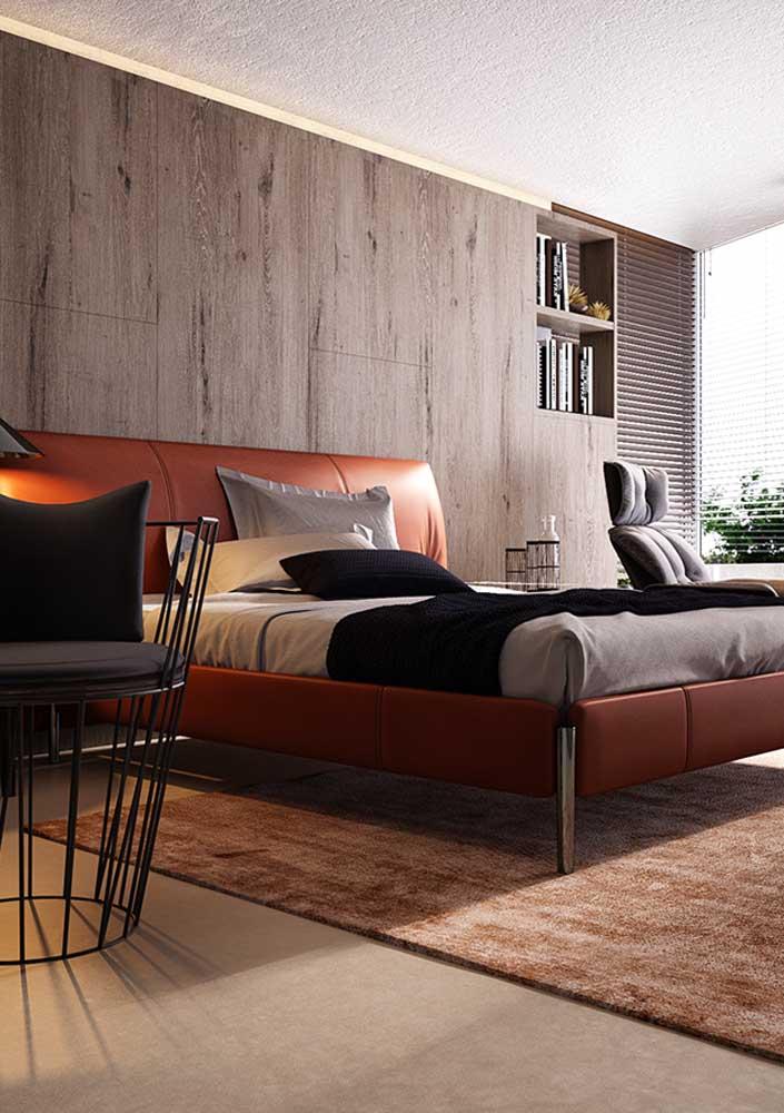 Uma ótima opção é decorar o quarto vermelho e cinza.
