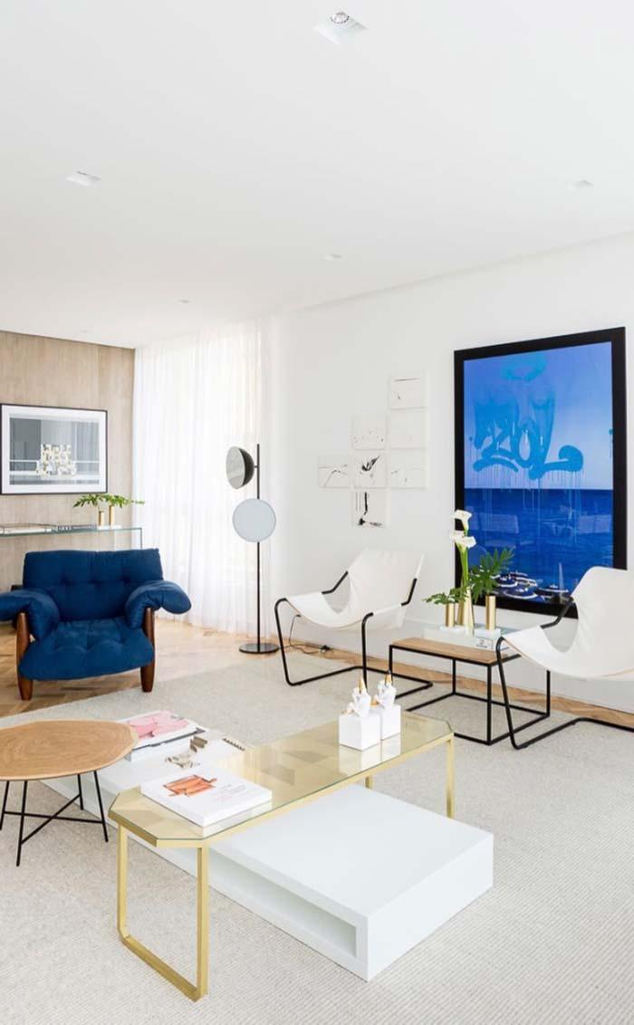 Azul royal para valorizar os ambientes