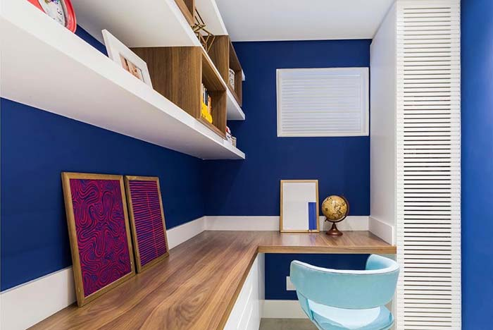 Home office azul royal