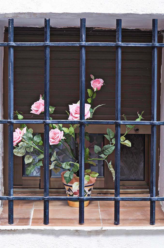Grade para janela rústica e de visual pesado