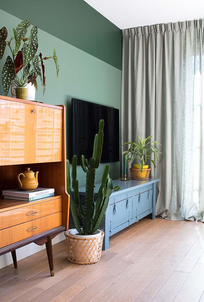 Planta para sala de estilo rústico
