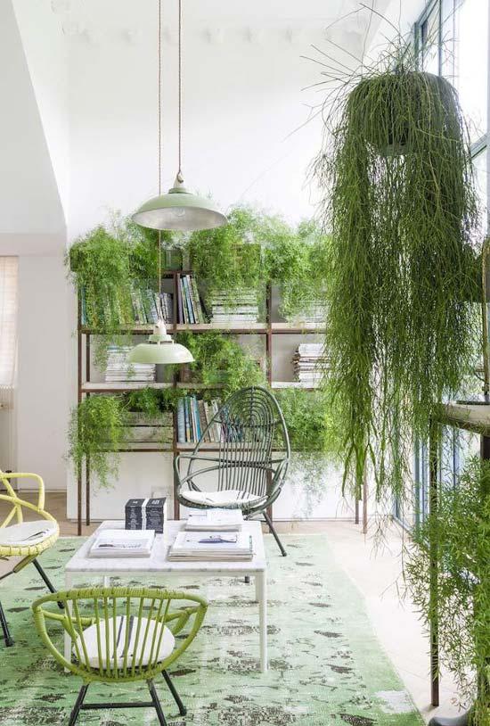 Tudo verde nessa sala / varanda