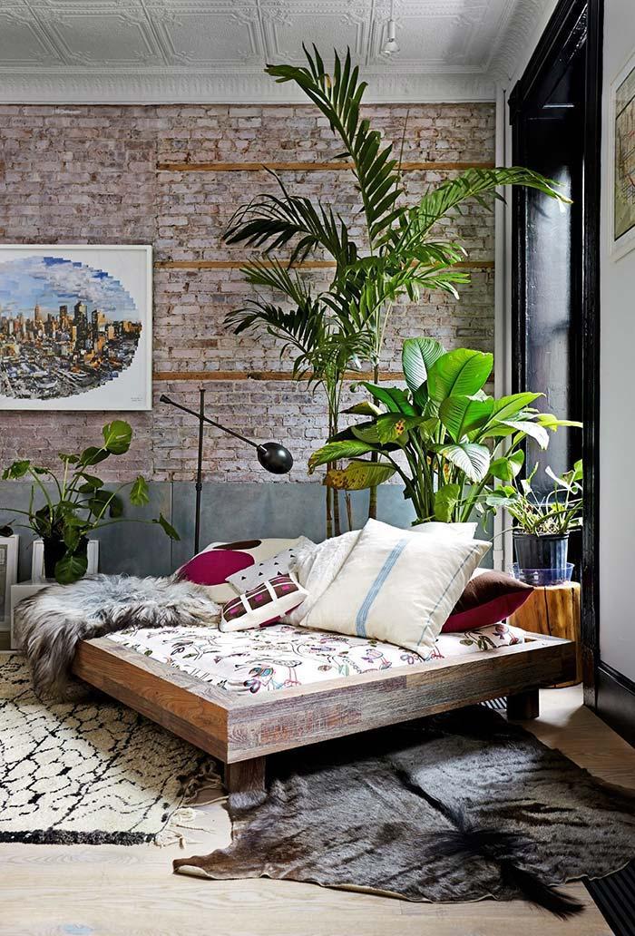 Sala com estilo tropical