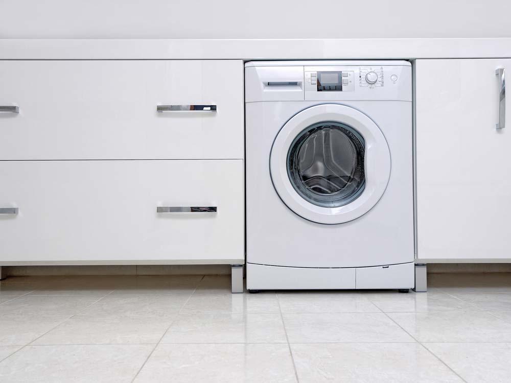 Máquina de lavar por fora