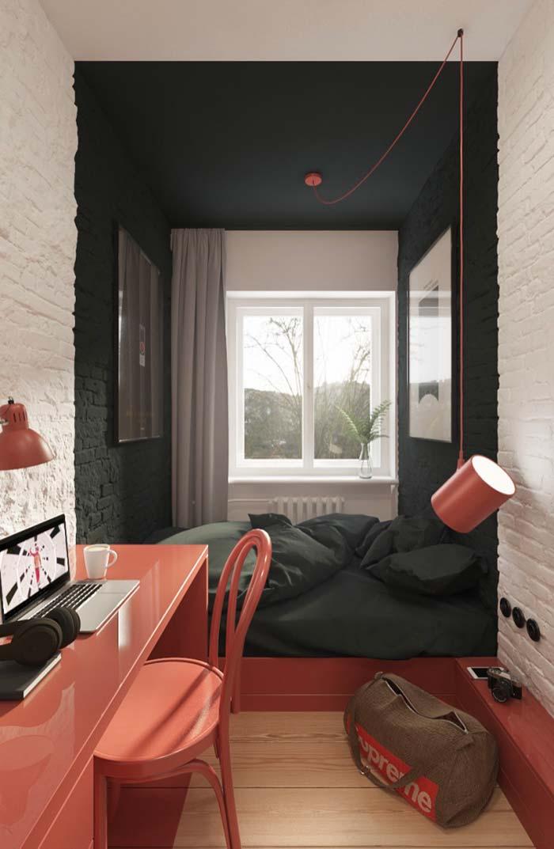 Ambiente da casa com branco e preto