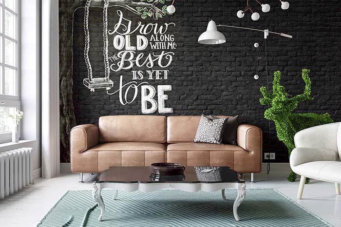 Adesivo sobre parede de tijolos