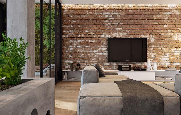 Parede de tijolos: ideias para decorar com tijolinho aparente