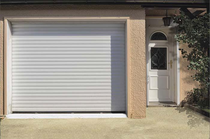 Portão de alumínio de enrolar para garagem
