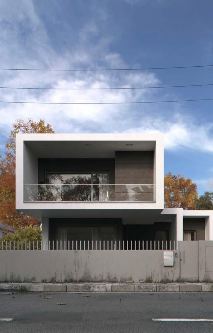 Casa moderna com portão de ferro
