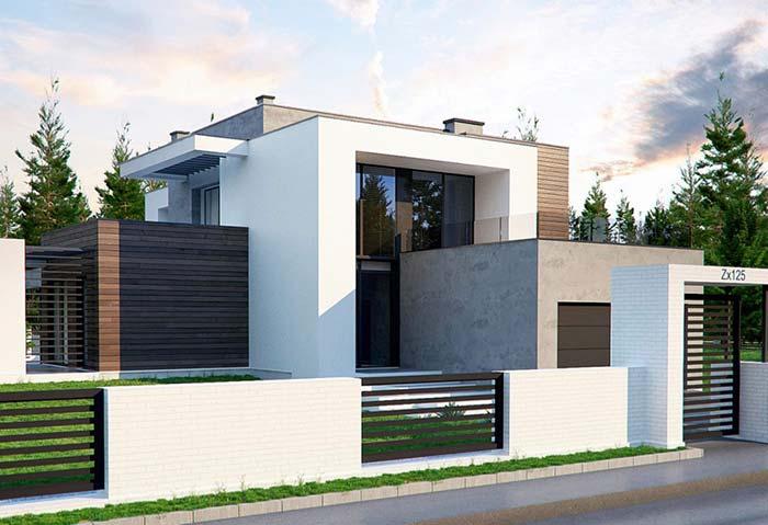 Casa com portão de ferro