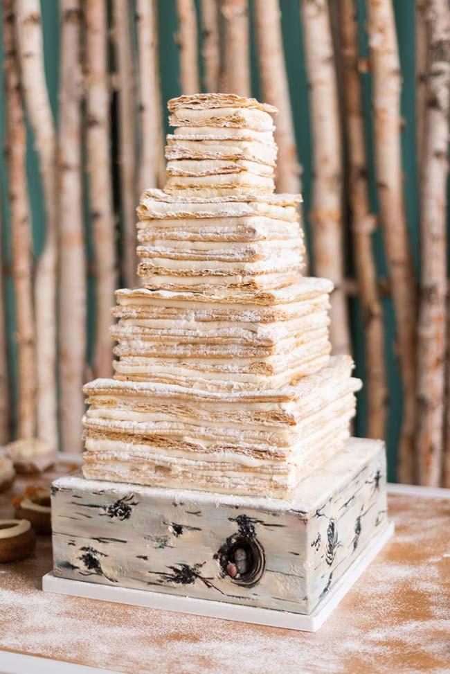 Naked cake para casamento barato