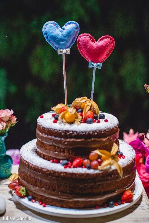 Bolo de frutas para casamento barato