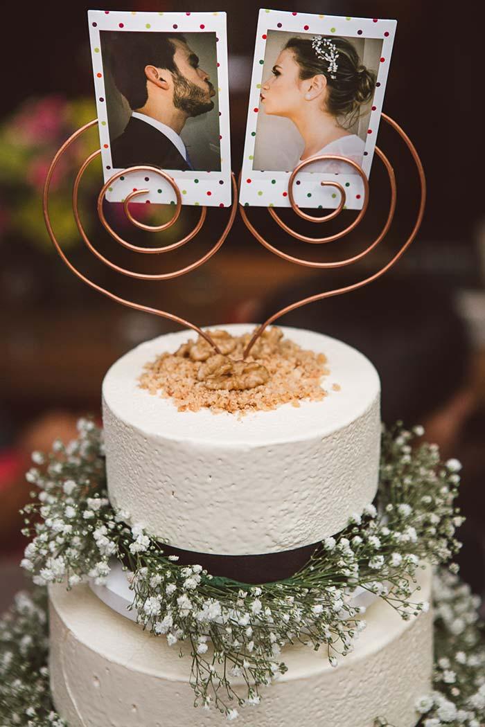 Fotos para decorar o bolo de casamento