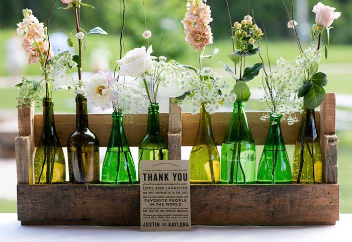 Garrafa florida para seus convidados