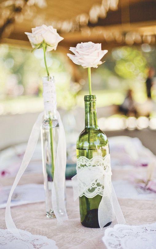 Vasinho com garrafa de vidro