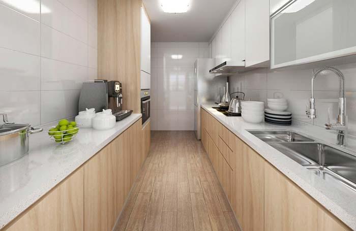 Cozinha com balcão armário