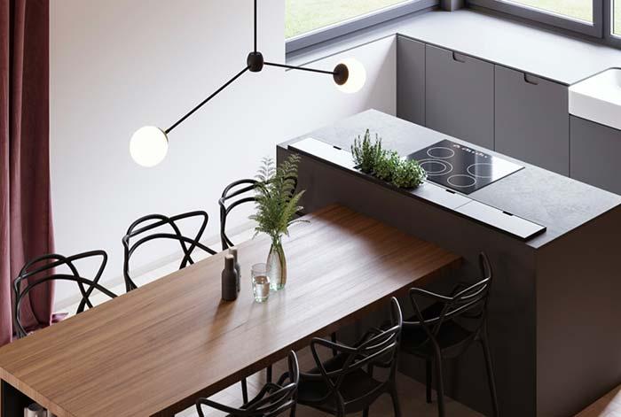 Balcão: solução perfeita para as cozinhas pequenas