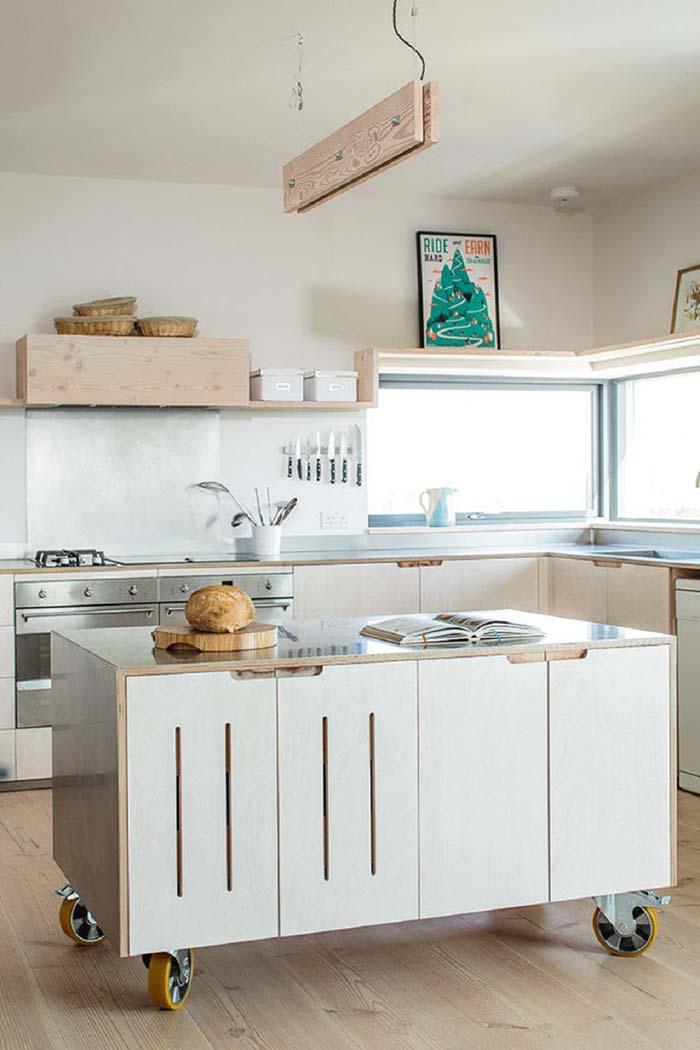 Cozinha com balcão mais funcional
