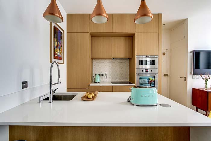Cozinha com balcão: projeto invertido