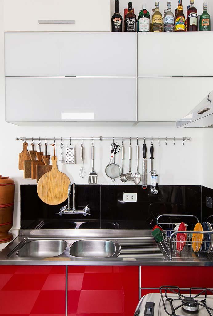 Ganchos para utensílios na cozinha