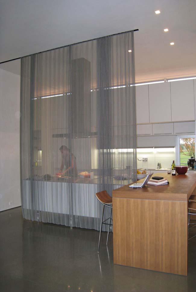 Divisória de ambiente em formato de cortina