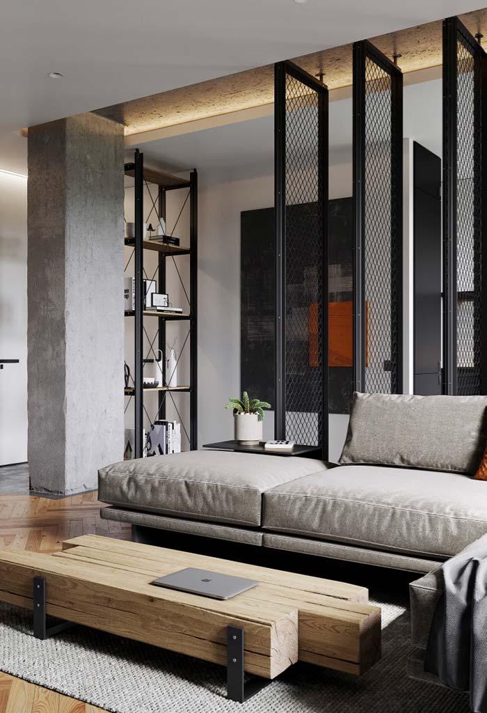 Divisórias de ambiente móveis com tela de metal