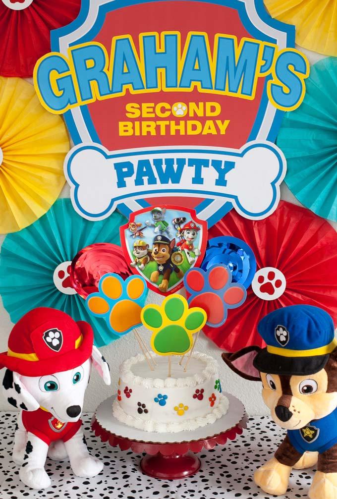 Uma decoração super especial e simples da festa patrulha canina