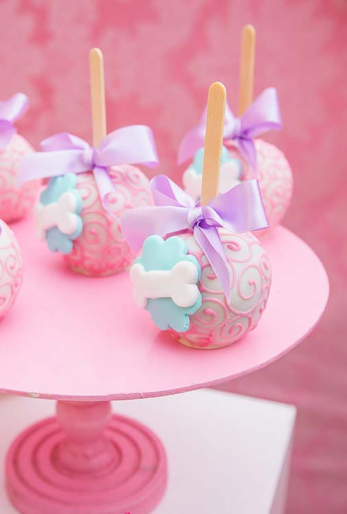 Cake pop para festa Patrulha Canina
