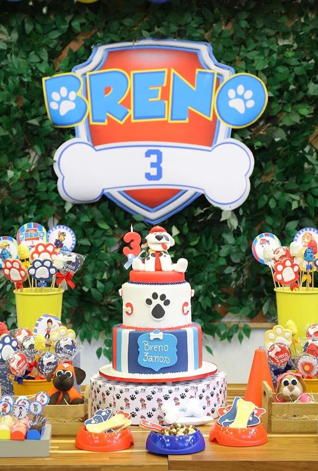 Festa Patrulha Canina 60 Ideias de Decoraç u00e3o e Fotos do Tema