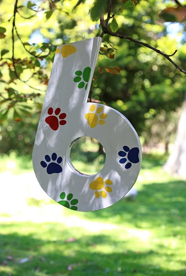 Decoração de festa ao ar livre com tema Patrulha Canina