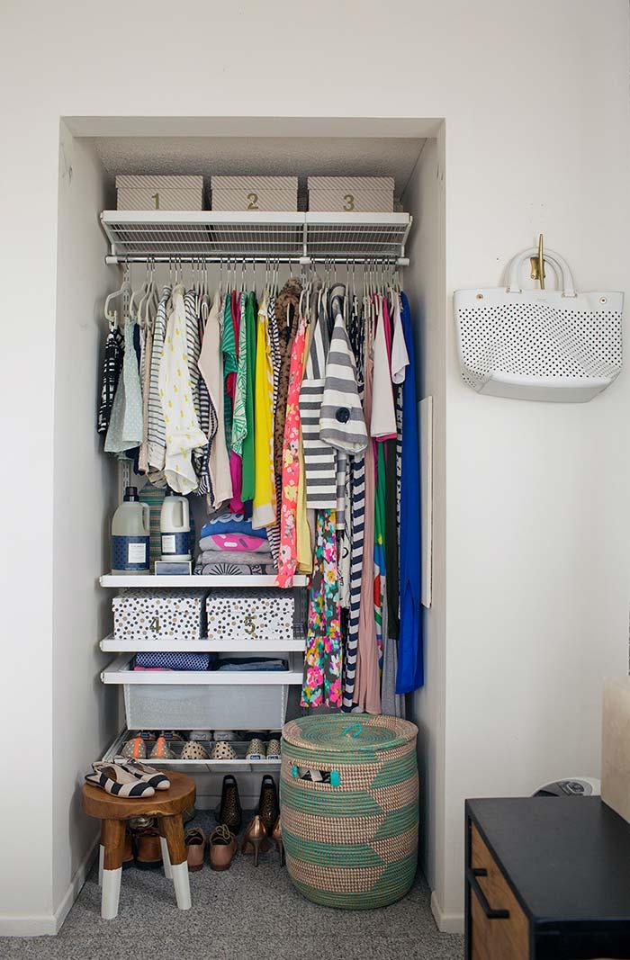 Espaço dedicado para o closet