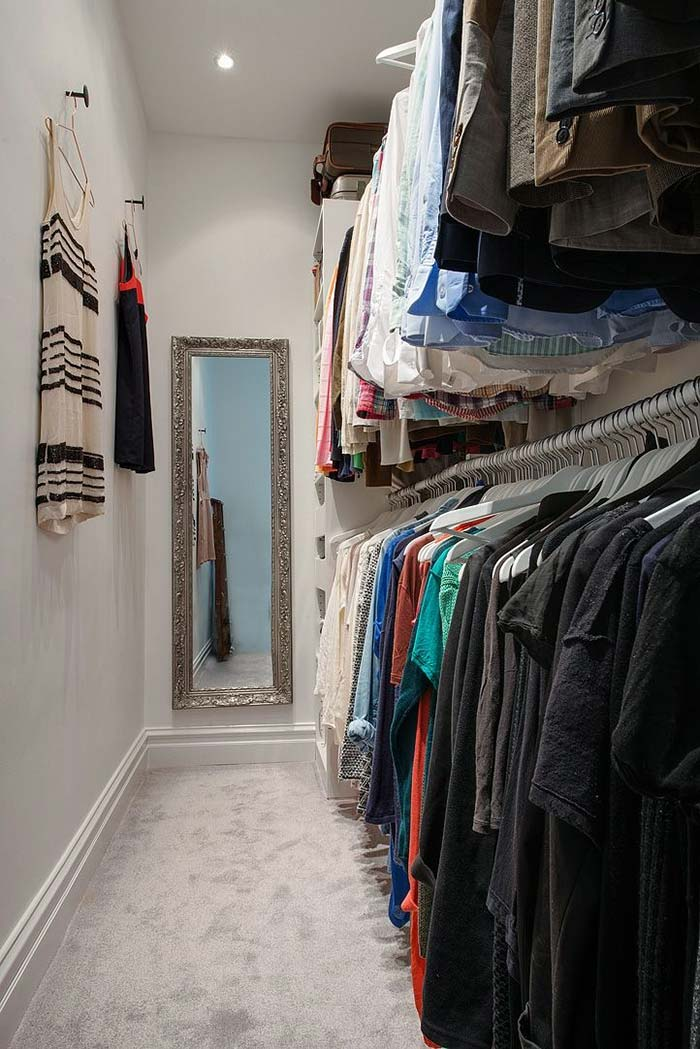 Closet barato com araras