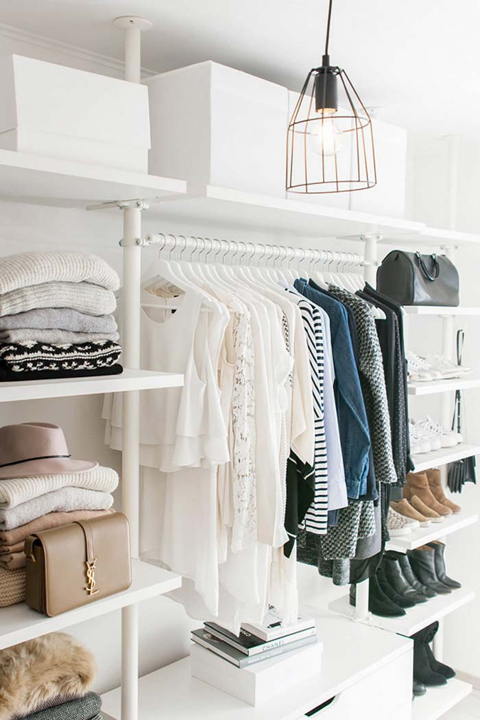 Closet com visual clean