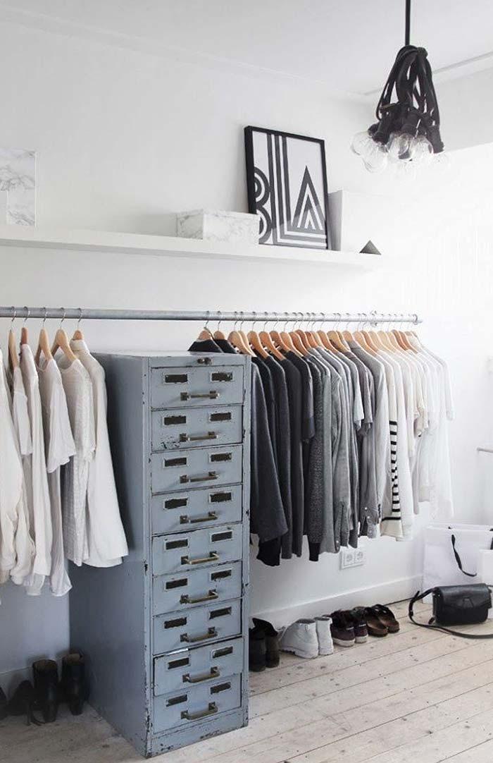 Armário de escritório no closet