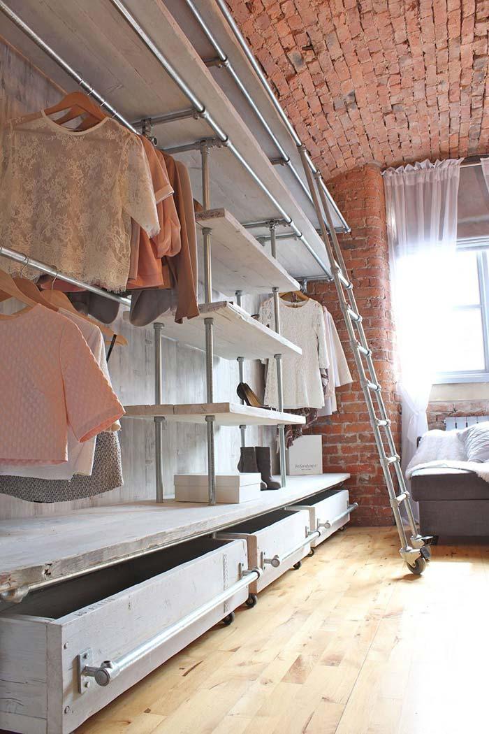 Closet com madeira