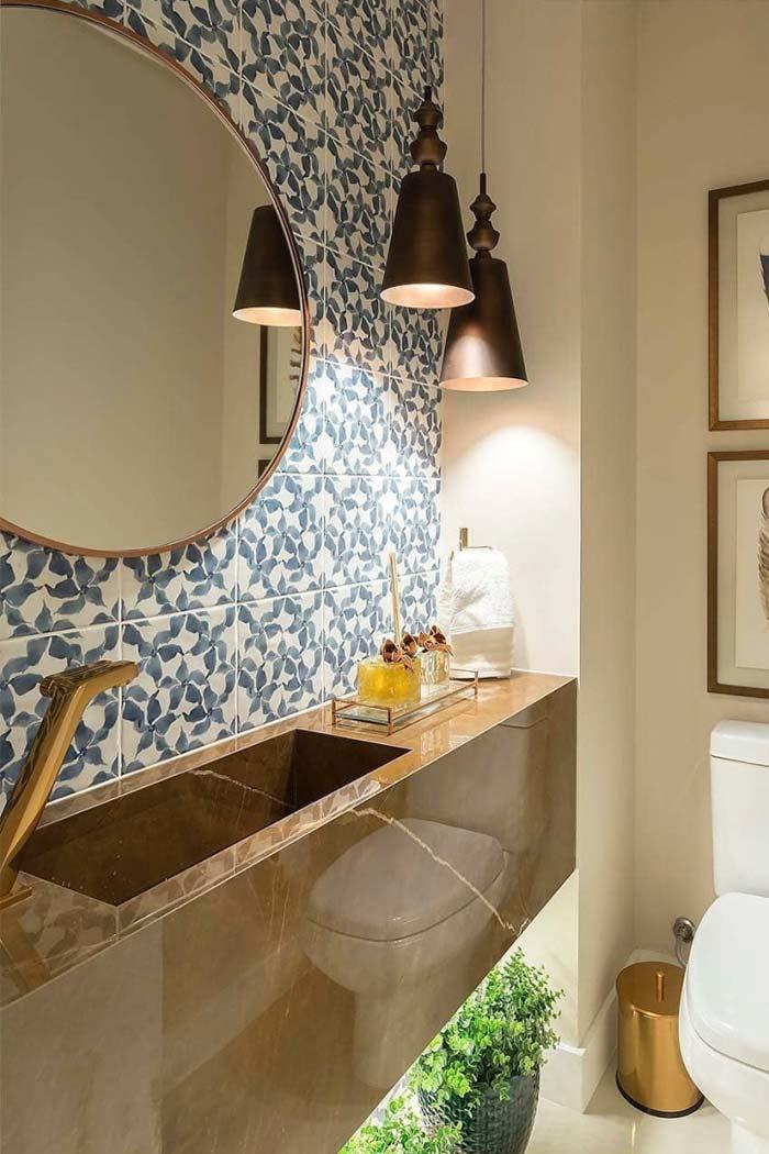 Bancada de mármore: elegância para o banheiro