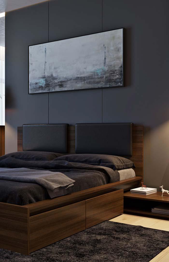 Cabeceiras individuais na cama de casal