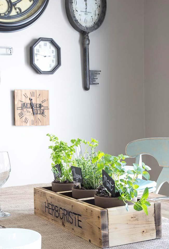 Agrupe as plantinhas com tonalidades mais rústicas