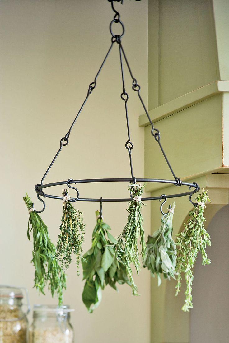 Horta caseira com sistema de metal suspenso