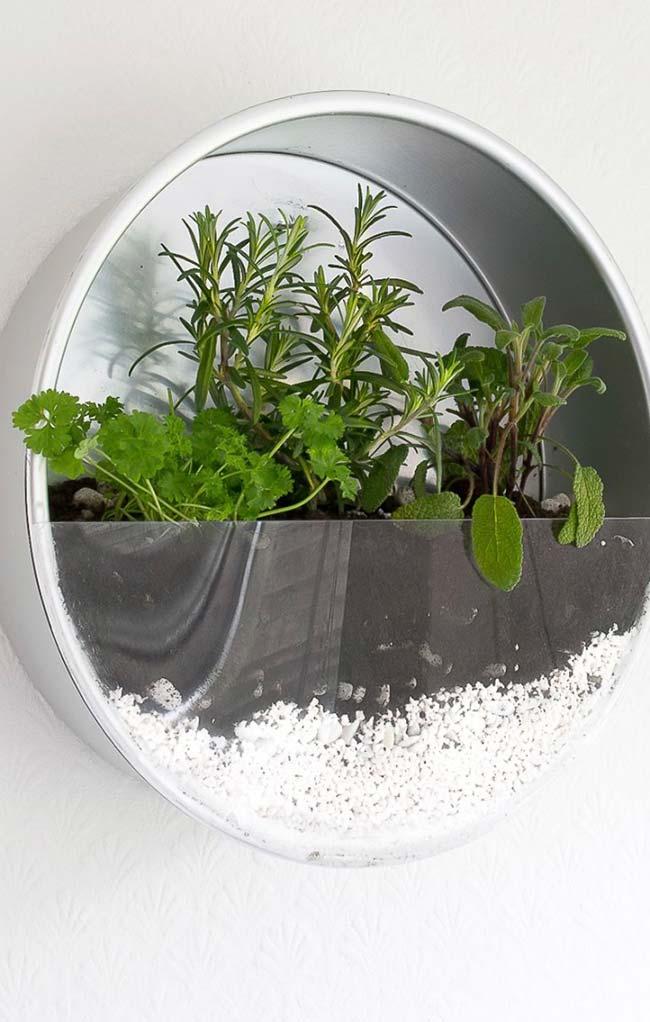 Ideia criativa para horta caseira
