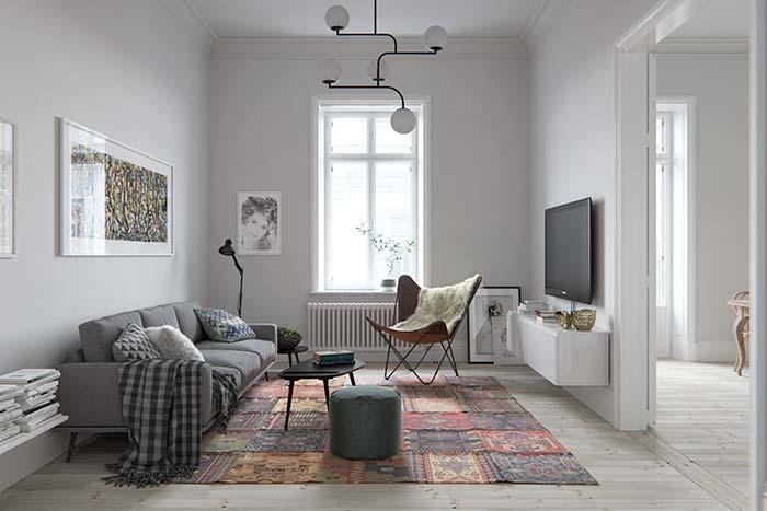 Luminária para sala com proposta clean
