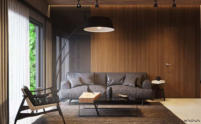 Sala sofisticada em madeira