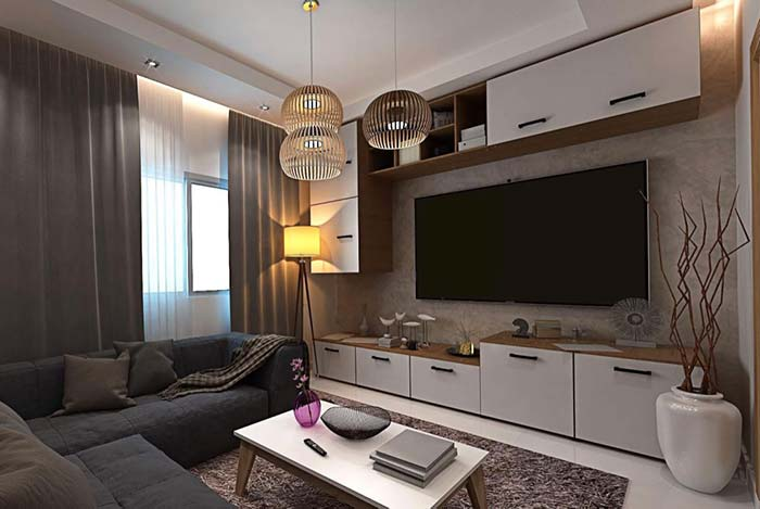 Luminária para sala arredondada