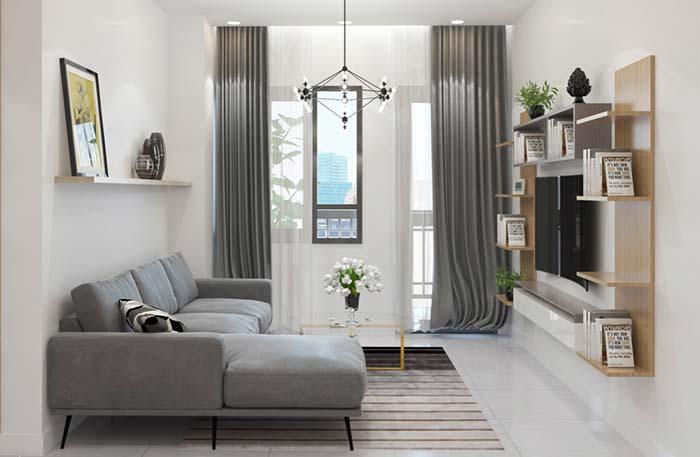 Luminária para sala em formato de losango