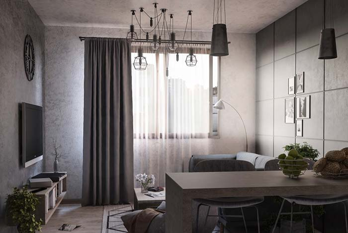 Luminária para sala acompanha a decoração da sala