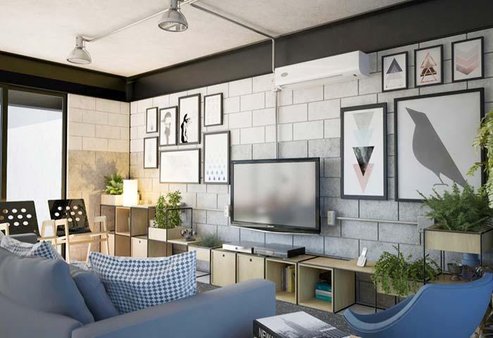 Luminárias para sala reforçam o estilo industrial