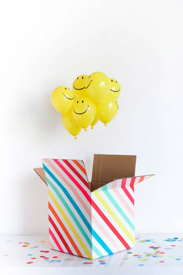 Balões surpresa desta festa na caixa