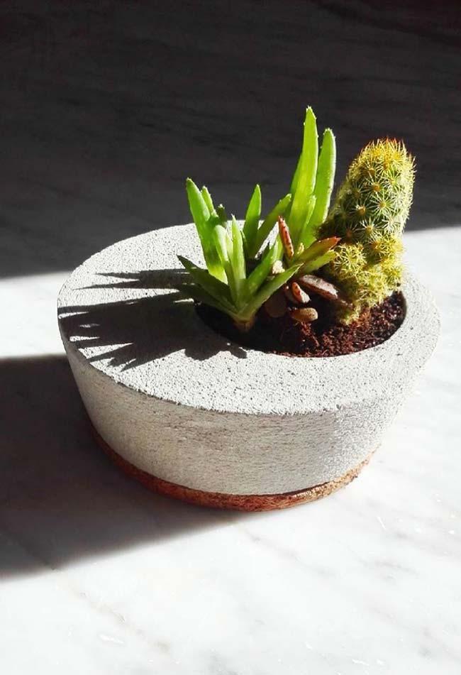 Abertura do vaso de cimento fora do centro