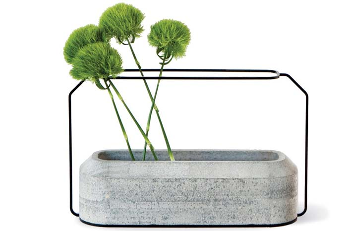 Moldura para vaso de cimento